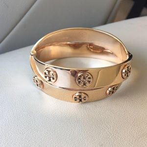 Tory Burch Authentic rose gold double wrap bangle